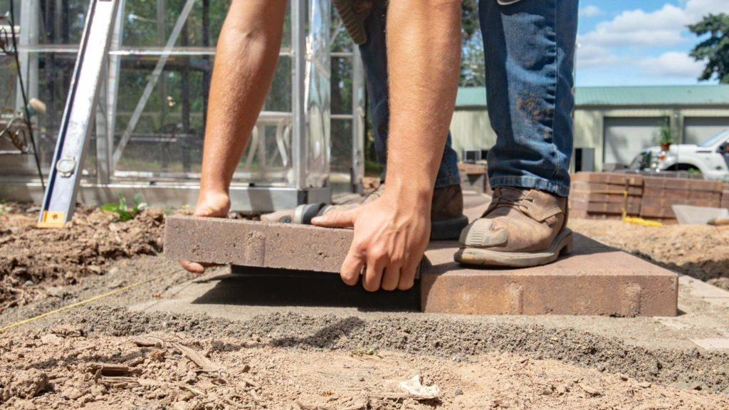 Click and drop place a paver